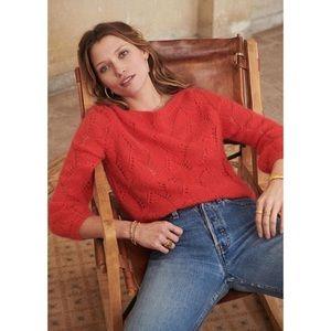 Sezane Avril wool mohair blend sweater